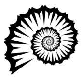 Shell silhouette — Stock Vector