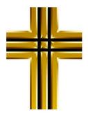Gouden christelijke kruis — Stockvector