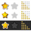 Stock Vector: Yellow rating stars