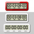 LCD counter - countdown timer — Stock Vector