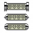 Chrome LCD counter - countdown timer — Stock Vector