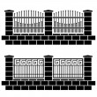 Royalty-Free Stock Vector Image: Metal ornate fence black icons