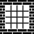 Grate prison window black symbol — 图库矢量图片