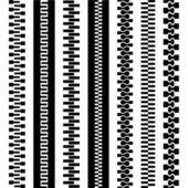 Seamless zipper black symbols — Stock Vector