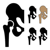 Human hip joint symbols — Stock Vector