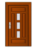 Modern entrance door — Vecteur