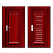 マホガニーの高級木製ドア — ストックベクタ