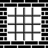 Grate prison window black symbol — Stock Vector