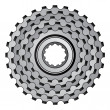 Stock Vector: Bicycle gear cogwheel sprocket icon