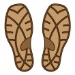 Stock Vector: Brown rubber shoe sole