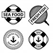Sea food stamps — Stock Vector