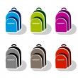 School bag icons — Stock Vector #28722687