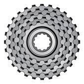 Bicycle gear cogwheel sprocket icon — Stock Vector