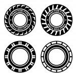 Black tractor tyre symbols — Stock Vector #31478535