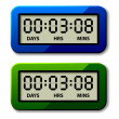 LCD counter - countdown timer — Stock Vector #31478547