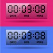 LCD-counter - countdown-timer — Stockvector