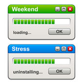 Computer windows weekend loading stress uninstalling — Wektor stockowy