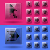 LCD display pixel arrows — Vector de stock