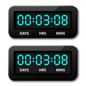 Glowing digital counter - countdown timer — Stock Vector