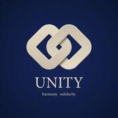 Unity symbol design template — Stock Vector