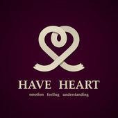 Abstract heart symbol design template — Stock Vector