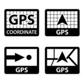 Gps navigation coordinates symbols — Stock Vector