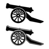 Ancient cannon symbol — Stock Vector