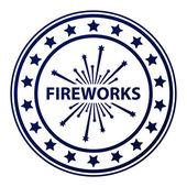 Fireworks stamp — Stock Vector