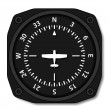 Stok Vektör: Aviation aircraft compass turns