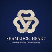 Abstract shamrock heart symbol — Stock Vector