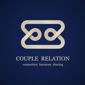 Abstract couple relation symbol — Stock Vector