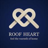 Abstrakte Dach Herzsymbol — Stockvektor