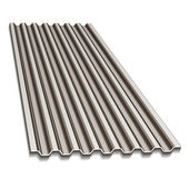 Corrugated roofing sheet — Stockvector