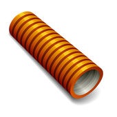 Orange plumbing corrugated tube — Stock Vector
