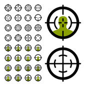 Gun crosshair sight symbols — Stock Vector