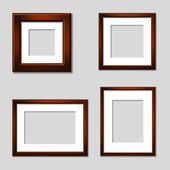 Wooden mahogany picture frames — Stock Vector