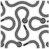 Seamless monochrome shoelace pattern — Stock Vector