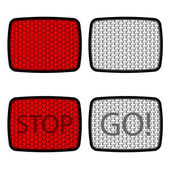 Bicycle reflectors red white — Stock Vector