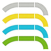 Colored corrugated flexible tubes — Vettoriale Stock