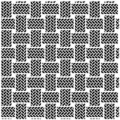 Black white seamless textile pattern — Stock Vector