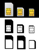 Sim card standard micro nano adapter — Stockvector