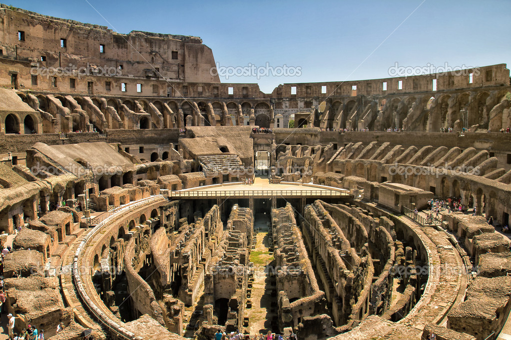 Inside the Colosseum  in Rome, Italy  Stock Photo #12181154