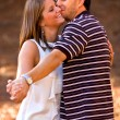 Young Couple In Love Strikes Dance Pose — Stok fotoğraf