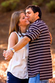 Young Couple In Love Strikes Dance Pose — Stock Photo
