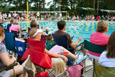 Parents And Spectators Watch Neighborhood Swim Meet — Stock Photo