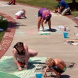 Stock Photo: Draw Sidewalk Chalk Art At Festival