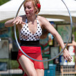 ������, ������: Circus Performer Dances With Hula Hoop At Spring Festival