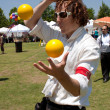 Stock Photo: Juggler Entertains At Outdoor Arts Festival