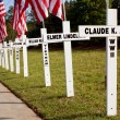 War Dead Honored With Crosses Along Highway For Memorial Day — Stock Photo