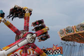 Enjoy Scary Carnival Ride At Fair — Stock Photo